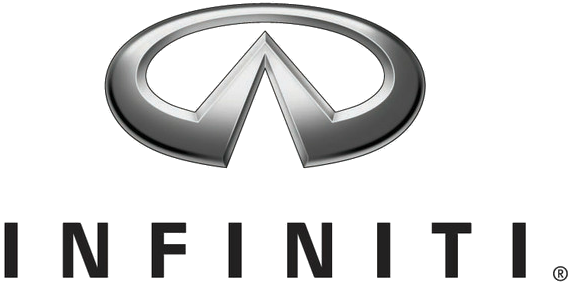 Behind The Badge Is The Infiniti Emblem A Road Or A Mountain The