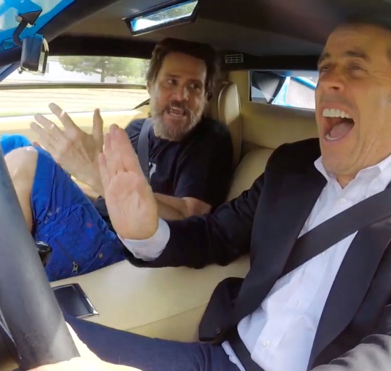 Jim Carrey And Jerry Seinfeld Drive A 1976 Lamborghini
