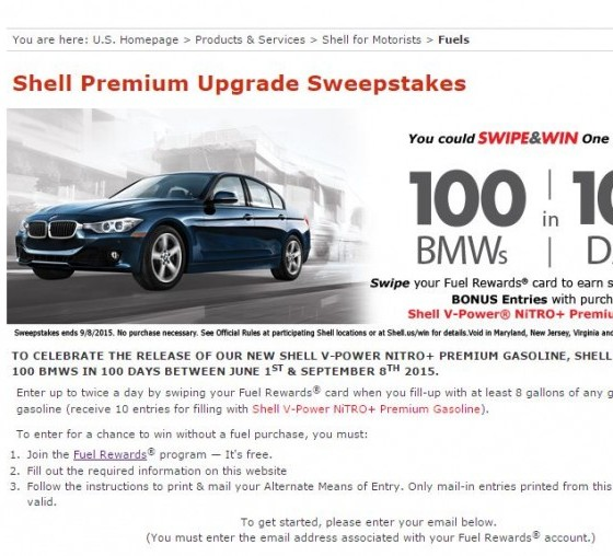 Join Shell Rewards And Enter The 2016 BMW 320i 3 Series
