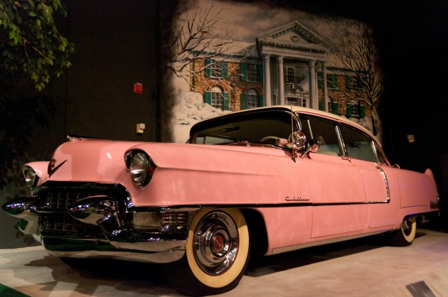 Elvis bought this pink Cadillac in 1955.