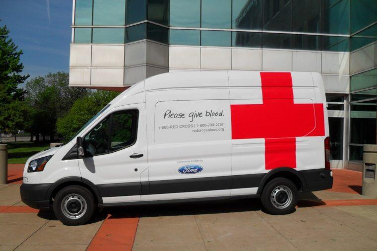 Ford Transit Van Red Cross