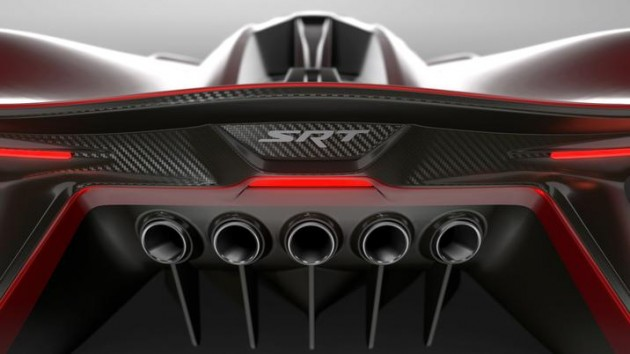 FCA has teased the SRT Tomahawk Vision Gran Turismo concept with a number of photos and a video