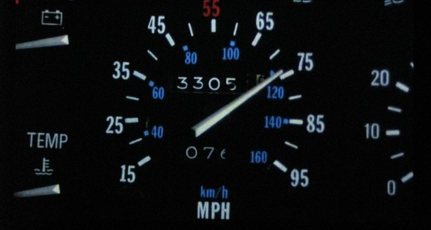 The modified speedometer featured in BTTF