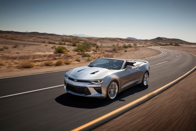 The 2016 Chevrolet Camaro convertible