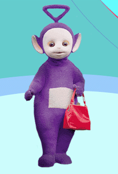 Guys can like purses too. Just ask Tinky Winky. Photo: Eva Young