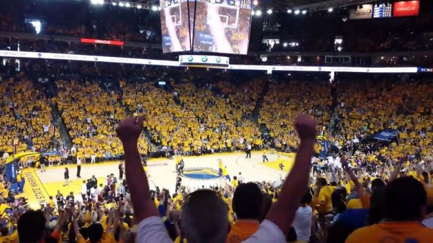 VIDEO Golden State Warriors Fan Wins BMW i3 with Lucky Shot