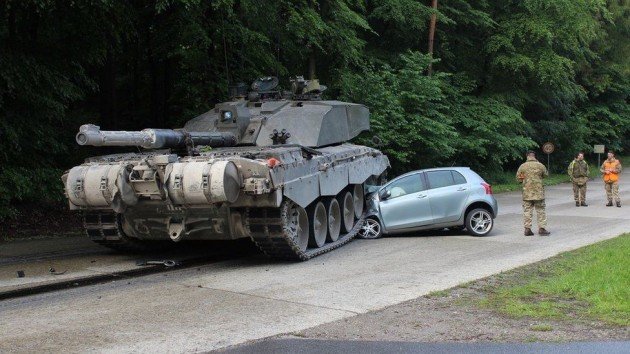 Toyota Yaris vs tank