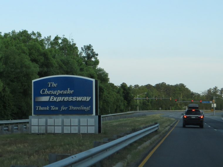 chesapeake expressway highway expensive toll road sign