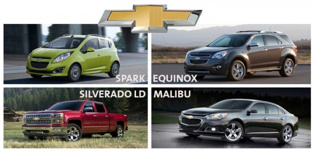 Four Chevy models ranked first in the 2015 J.D. Power Initial Quality Study