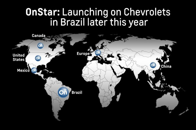 Chevrolet OnStar is launching in Brazil
