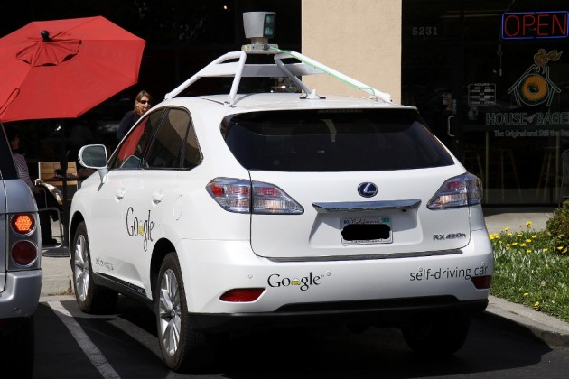 The Washington Post reported that two self-driving car prototypes nearly collided Tuesday in Palo Alto, California.