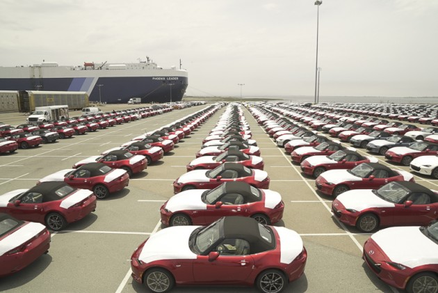2016 MX-5 fleet waiting to be processed