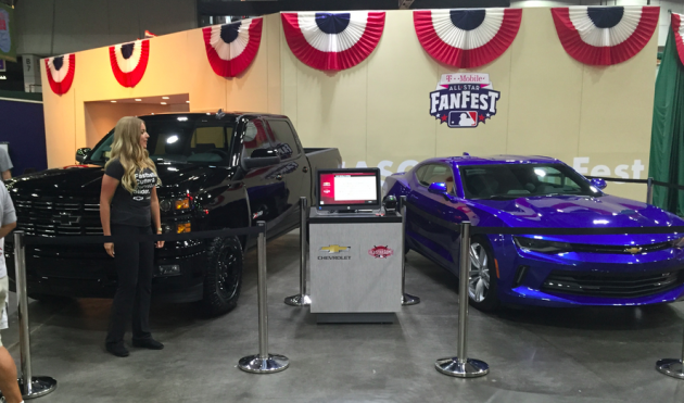 2016 Chevy Camaro and 2015 Silverado Midnight Edition at All-Star FanFest in Cincinnati