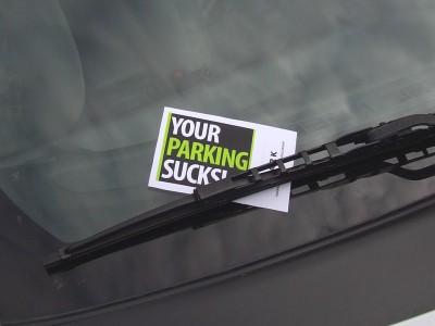 Your Parking Sucks note