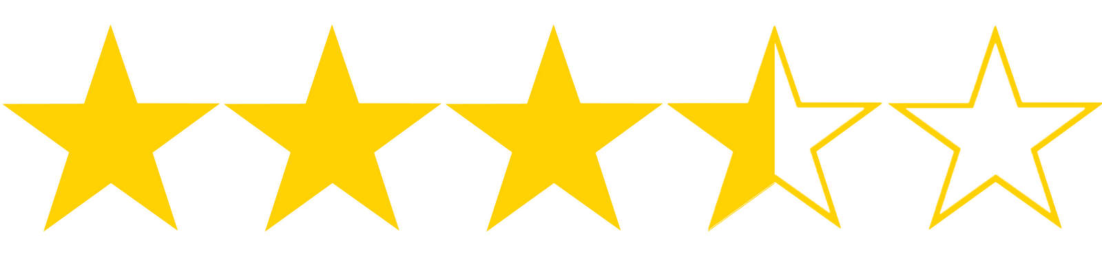 Image of 3.5 out 5 star ratings