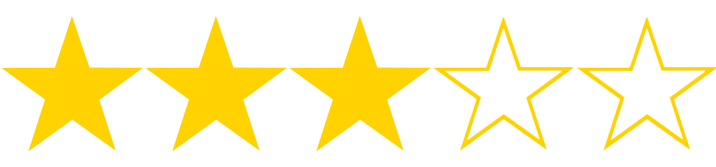 Image result for 3 out of 5 stars