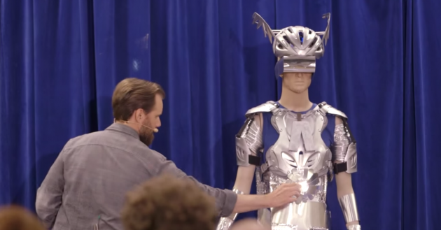 The Almighty Aluminum Man appears in a new ad for the high-strength steel 2015 Chevy Silverado