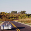 Chris Runge's Porsche on sunny road in the country