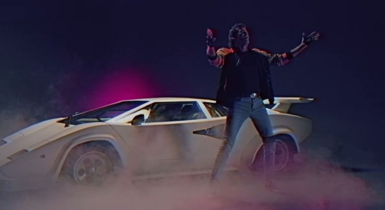 David Hasselhoff's True Survivor Music Video Lamborghini Countach