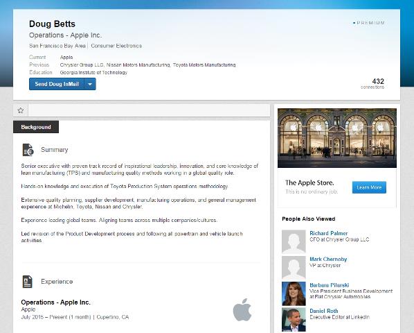 Doug Betts LinkedIn Page