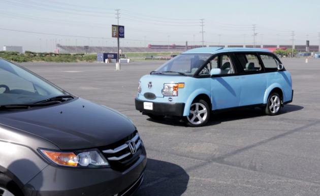 Edmunds.com Honda Odyssey vs National Lampoon Tartan Prancer minivan