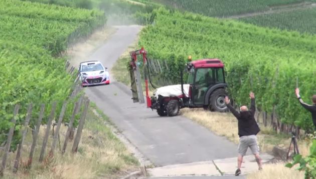 Hyundai Motorsport driver Thierry Neuville almost crashes