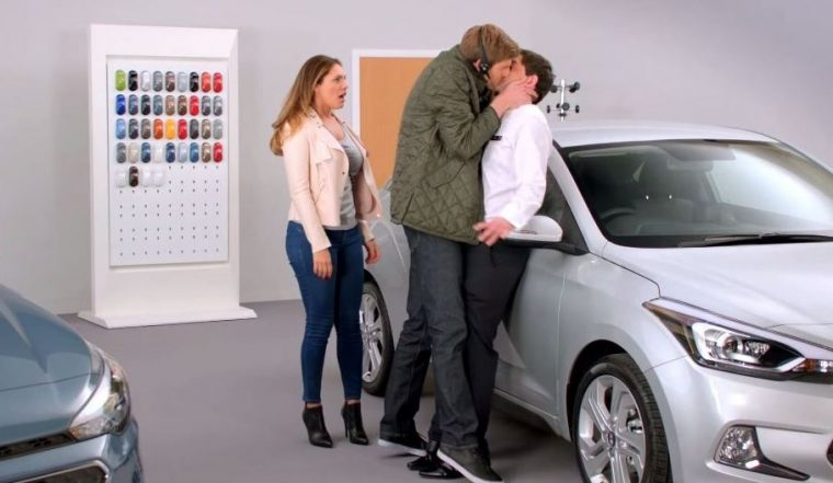 Hyundai i20 UK commercial video Kelly Brook funny