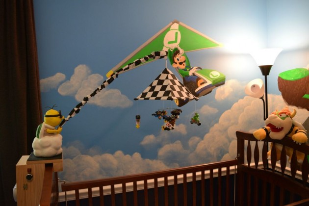 Lakitu crib mobile in Mario Kart nursery