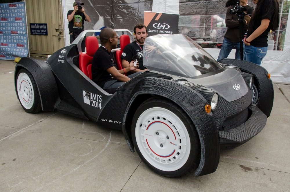 University of michigan to test 3d printed driverless for Local motors 3d printed car