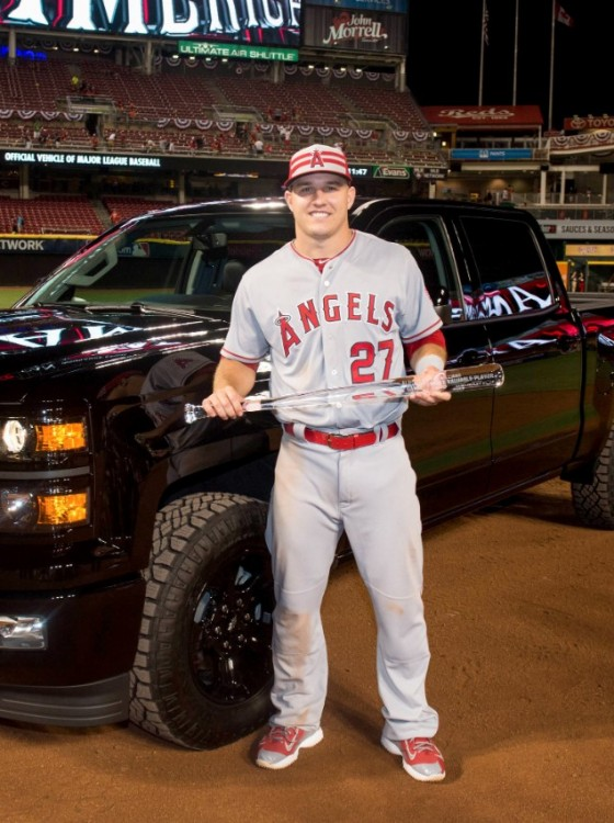 All Star Mvp Mike Trout Chooses Chevy Silverado Over New