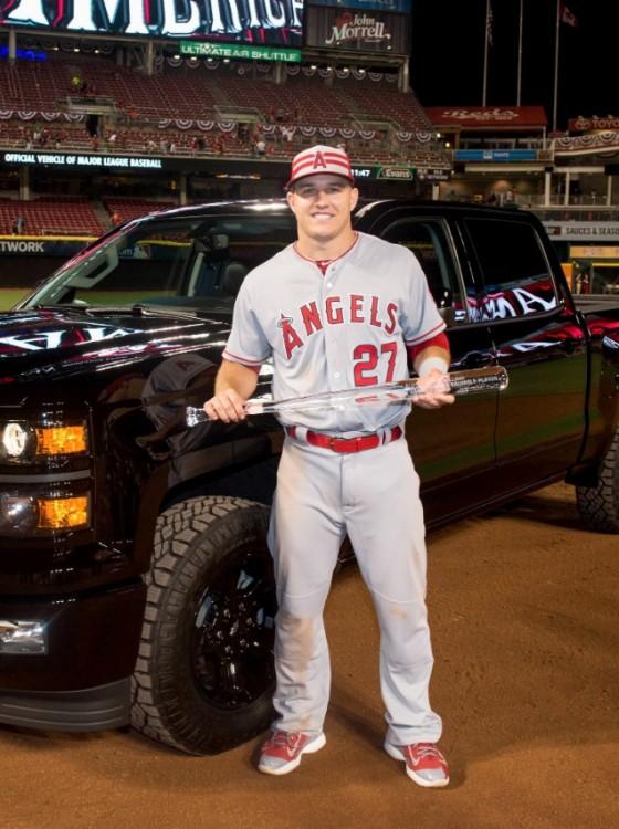 Midnight Edition Chevy Silverado >> All-Star MVP Mike Trout Chooses Chevy Silverado Over New Camaro - The News Wheel