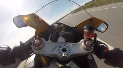 Motorcyclist Go Pro