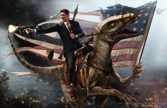 Ronald Reagan Velociraptor