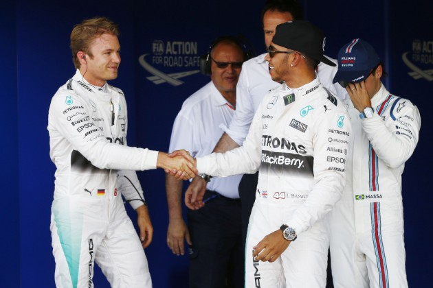rosberg and hamilton - 2015 british grand prix