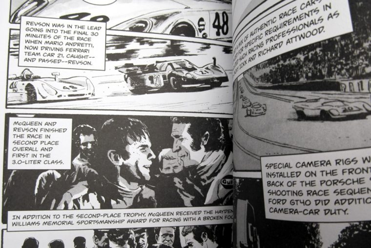 Steve McQueen Full Throttle Cool Grahpic Novel Review Inside page race