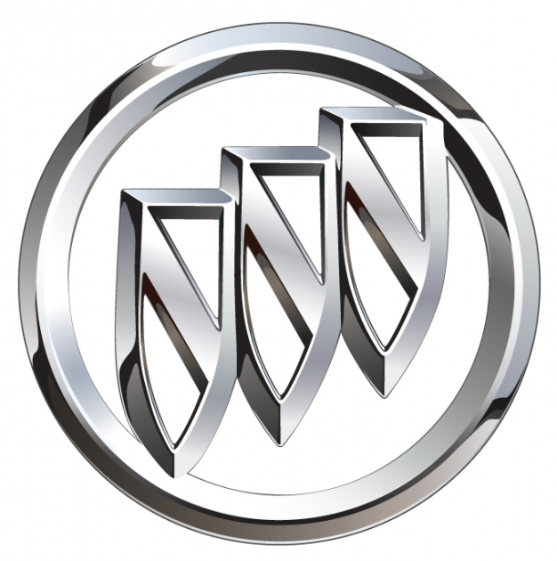 buick logo chrome tri shield