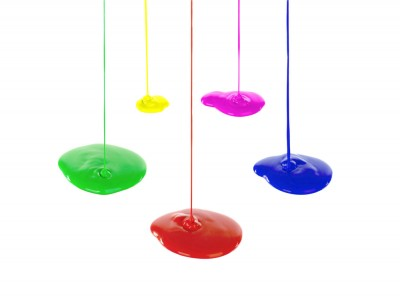 Flowing paint