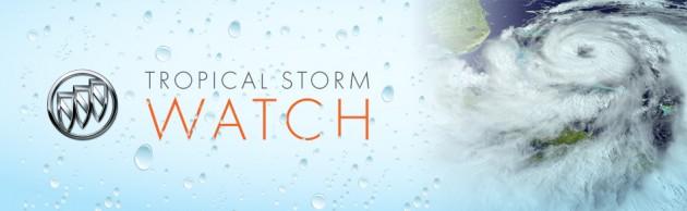 Tasteful Tropical Storm Watch Banner