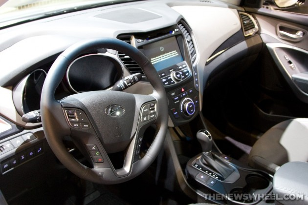 2015 Hyundai Santa Fe at Chicago Auto Show dashboard steering