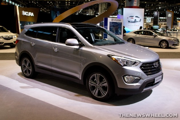 2015 Hyundai Santa Fe at Chicago Auto Show exterior
