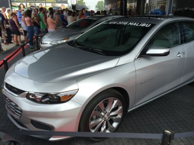 2016 Chevy Malibu at Indianapolis Motor Speedway