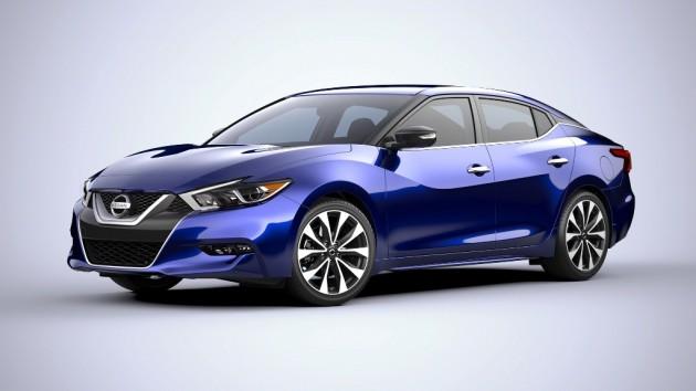 2016 Nissan Maxima Blue Front oblique