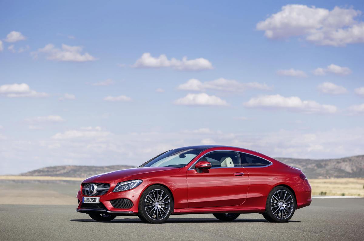 2017 mercedes benz c class coupe grows in size the news for Mercedes benz c300 tire size