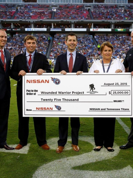 nissan tennessee titans partner up to help wounded. Black Bedroom Furniture Sets. Home Design Ideas