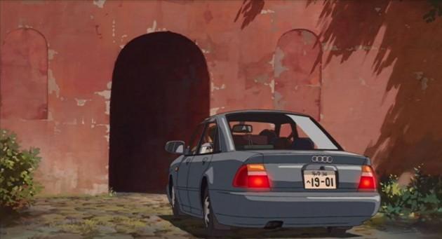 Audi A4 in Miyazaki Spirited Away (rear)