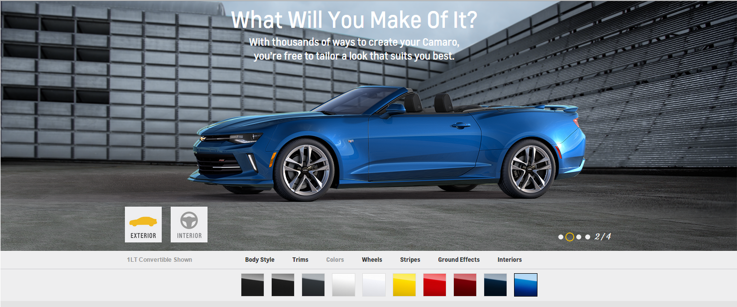 hyper blue metallic most popular 2016 chevy camaro color the news wheel. Black Bedroom Furniture Sets. Home Design Ideas