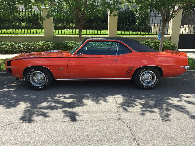 1969 Chevy Camaro being auctioned by Drew Brees