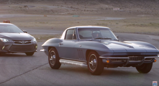 Edmunds.com 2015 Toyota Camry vs 1966 Chevy Corvette