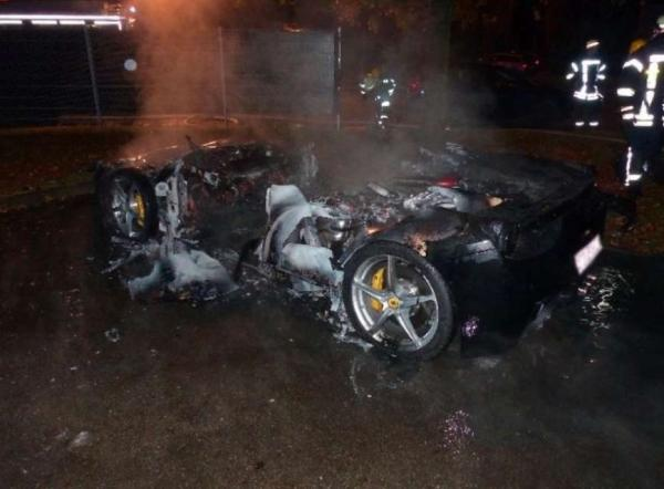 Ferrari Fire Aftermath