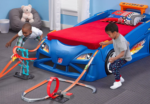 this hot wheels race car bed is the bed of your dreams | the news